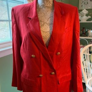 Red Talbots double breasted jacket 12